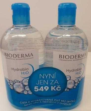 BIODERMA Hydrabio H2O 500ml + 500ml ZDARMA