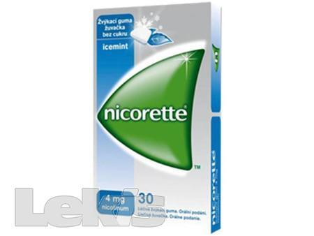 NICORETTE ICEMINT GUM 4 MG 30X4MG Žvýkačky