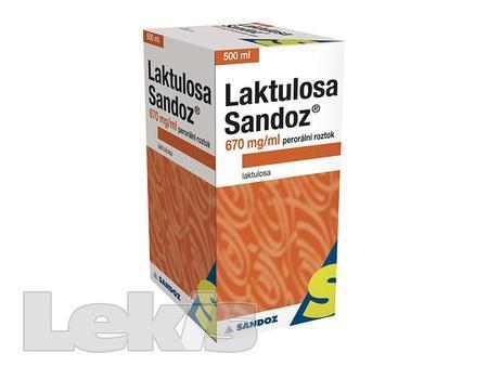 LAKTULOSA SANDOZ 670 MG/ML POR SOL 1X500ML/335GM IIA