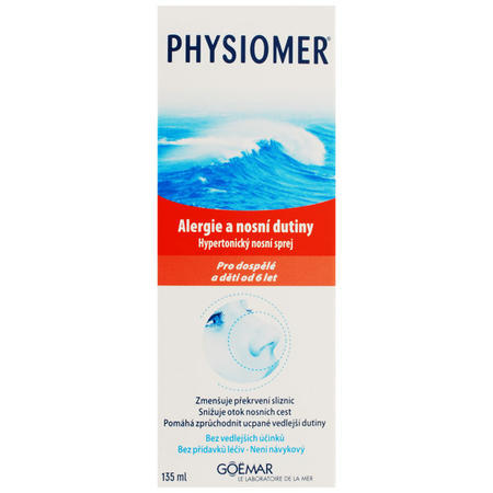Physiomer Alergie a nosni dutiny 135ml