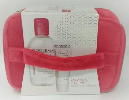 BIODERMA Sensibio H2O 250 ml + Light 40ml+taštička VÁNOCE 2019